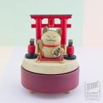 กล่องเพลง Lucky Cat ♫ Yurikago No Uta (ゆりかごの唄) ♫ กล่องดนตรี Wooderful Life
