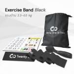 ยางยืดออกกำลังกายแบบแผ่น Exercise Band Black