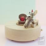 กล่องเพลง Happy Puppy ♫ The Entertainer ♫ กล่องดนตรี Wooderful Life