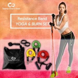 ชุดยางยืดออกกำลังกาย 3 ระดับ (Yoga & Burn Set)