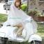 เสื้อกันฝนสีขาวขุ่นกี่งใส มอเตอร์ไซค์ รหัส 04-LX thumbnail 3