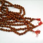 สร้อยประคำ เมล็ดรุทรักษะ น้ำตาพระศิวะ 108 เม็ด ขนาด 0.3-0.6 Cm./เม็ด
