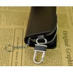 กระเป๋าซองหนัง ใส่กุญแจรีโมทรถยนต์ ไม่มีโลโก้ แบบเรียบหรู สีดำ