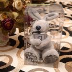 ตุ๊กตาหมี มินิโน๊ตบุ๊คคอมพิวเตอร์ USB ลำโพงสเตอริโอขนาดเล็ก สีเทา