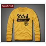 เสื้อยืดแขนยาวชาย Abercrombie Fitch Men (AF) สีเหลือง ไซส์ L (Pre)