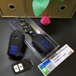 ซองหนังแท้ ใส่กุญแจรีโมท รุ่นด้ายสีหนังนิ่ม HONDA HR-V,CR-V,BR-V,JAZZ Smart Key 2 ปุ่ม สีน้ำเงิน