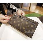 กระเป๋าสตางค์/คลัทช์ LV Monogram Canvas wallet สีน้ำตาล