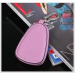 กระเป๋าซองหนังแท้ ใส่กุญแจรีโมทรถยนต์ สีสันสดใส สไตล์เกาหลี สีม่วง