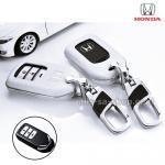 กรอบ-เคส ใส่กุญแจรีโมทรถยนต์ Honda Accord All New City,Hatchback Smart Key 3 ปุ่ม สีขาว