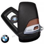 กระเป๋าซองหนังแท้ ใส่กุญแจรีโมทรถยนต์ BMW รุ่น VIP สีสำตาล