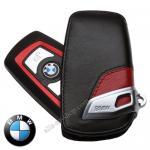 กระเป๋าซองหนังแท้ ใส่กุญแจรีโมทรถยนต์ BMW รุ่น VIP สีแดง