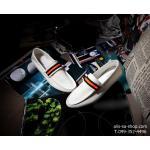 แฟชั่นรองเท้าชาย รองเท้าหนังผ้าใบ ไสต์เกาหลี สีเบจ (Pre)