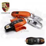 กรอบ-เคส ใส่กุญแจรีโมทรถยนต์ Porsche แบบใหม่ สีส้ม