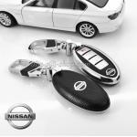 New กรอบ_เคส ใส่กุญแจรีโมทรถยนต์ Teana,Almera,Sylphy,Xtrail Smart Key 4 key สีดำ