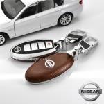 New กรอบ_เคส ใส่กุญแจรีโมทรถยนต์ Teana,Almera,Sylphy,Xtrail Smart Key 4 key สีน้ำตาล