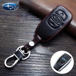 ซองหนังแท้ ใส่กุญแจรีโมทรถยนต์ Subaru XV,Forester,Brz 2015,Outback 2017-18 Smart Key สีดำ