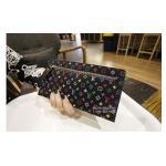 กระเป๋าสตางค์/คลัทช์ LV Multicolor wallet สีดำ