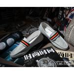 แฟชั่นรองเท้าชาย รองเท้าหนังผ้าใบ ไสต์เกาหลี สีเทา (Pre)