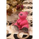 ตุ๊กตาหมี มินิโน๊ตบุ๊คคอมพิวเตอร์ USB ลำโพงสเตอริโอขนาดเล็ก สีชมพู