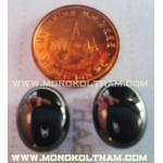 เพชรพญานาค รูปวงรี 1 ซม. สีดำ ( เป็นสีที่หายากมาก )