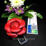 ที่เสียบเบลท์หลอก ไม่ให้เซนเซอร์มีเสียงดังเตือนเวลาขับขี่ ลายดอกกุหลาบ สไตล์ วินเทจ สีแดง