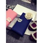 กระเป๋าสตางค์ Dior wallet งานมิลเลอร์ หนังแท้ทั้งใบ สีฟ้าเข้ม (Pre)