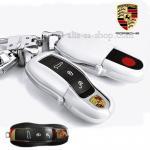 กรอบ-เคส ใส่กุญแจรีโมทรถยนต์ Porsche แบบใหม่ สีขาว
