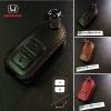 ซองหนังแท้ ใส่กุญแจรีโมทรถยนต์ รุ่นแบบสวมถอดได้ HONDA HR-V,CR-V,BR-V,JAZZ Smart Key 2 ปุ่ม