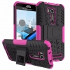 เคส asus zenfone GO TV zb551kl , zenfone go 5.5 zb551kl , zenfone dtac edition 5.5 zb551kl TPU+PC Dual Armor Case With Stand Holder Case สีชมพู