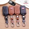 ซองหนังแท้ใส่ กุญแจรีโมทรถยนต์ Honda Accord,City,HR-V,CR-V,BR-V,JAZZ 2-3 ปุ่ม รุ่นโลโก้ H แดง