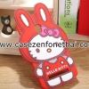 เคส zenfone 5 ซิลิโคน การ์ตูน 3D คิตตี้ หูกระต่าย สีแดง