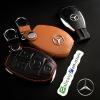 ซองหนังแท้ ใส่กุญแจรีโมทรถยนต์ รุ่นตูดตัดโลโก้เหล็ก Mercedes Benz