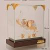 ของพรีเมี่ยม ช้างแก้วตู้กระจกพร้อมกล่องผ้าไหม ขนาดกว้าง 13 ซม. สูง 14 ซม.