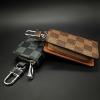 กระเป๋าซองหนังแท้ ใส่กุญแจรีโมทรถยนต์ Louis Vuitton ลายตาราง สี ดำ-น้ำตาล