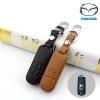 ซองหนังแท้ ใส่กุญแจรีโมทรถยนต์ Mazda 2,3/CX-3,5 Smart Key 2 ปุ่ม