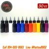 [SET 12COLORS/30CC] ชุดหมึกสักลายแบ่งขายคละสี 12 สี หมึกสัก สีสักลาย ขนาด 1 ออนซ์ Tattoo Ink Set (30ML/1OZ - 12PC)