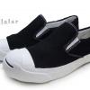 [พร้อมส่ง]รองเท้าผ้าใบแฟชั่น LEO JACK แบบสวม สีดำ