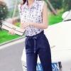 ชุดเซ็ทสองชิ้นเข้าชุดสวยๆ เสื้อตอเชิ้ตพิมพ์ลายสุดชิค คู่กับกางเกงขายาว สวยเท่ สวมใส่สบาย
