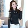 เสื้อลูกไม้สีดำ คอปก แขนยาว เรียบๆ สวย ดูดี แฟชั่นสวยๆสำหรับสาวออฟฟิศ