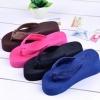 แฟชั่นรองเท้าแตะ ผู้หญิง ส้นหนา สไตล์เกาหลี สี ดำ- น้ำเงิน ไซส์ 36-37-38