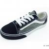 [พร้อมส่ง] รองเท้าผ้าใบแฟชั่น รุ่น E-8 สีเทาดำ