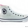 [พร้อมส่ง] รองเท้าผ้าใบแฟชั่น (หุ้มข้อ) รุ่น 3K สีขาว แบบหนัง
