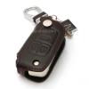 ซองหนังแท้ ใส่กุญแจรีโมทรถยนต์ รุ่นแบบสวมถอดได้ Chevrolet Captiva,Cruze,Colorado,Trailblazer,Sonic พับข้าง รุ่น 3 ปุ่ม สีดำ