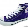 [พร้อมส่ง] รองเท้าผ้าใบแฟชั่น รุ่น 222 สีม่วง ทรงหุ้มข้อ