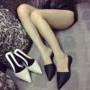 รองเท้า ส้นแบนหัวแหลม แบบใหม่ สีดำ ไซส์ 37