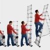 การใช้บันไดพับเก็บได้สำหรับการทำงานบนที่สูงอย่างปลอดภัย