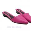 รองเท้าแฟชั่นผู้หญิง ส้นแบนหัวแหลม สีชมพู ไซส์ 36