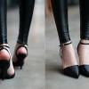 รองเท้าแฟชั่นผู้หญิง ส้นสูงหัวแหลม สีดำ ไซส์ 35 - 39