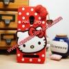 เคส zenfone 6 ซิลิโคน การ์ตูน 3D KITTY สีแดง Cute Silicone Soft Case/Cover