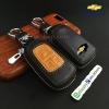 กระเป๋าซองหนังแท้ รุ่นมินิซิบรอบทรูโทน ใส่กุญแจรีโมทรถยนต์ Chevrolet Captiva,Cruze,Colorado,Trailblazer,Sonic 2,3 ปุ่ม